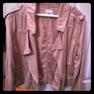 Kensie Jeans mauve colored jacket with zippers